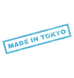 Made in tokyo rubber stamp vector