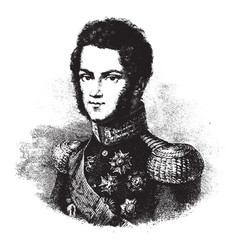 Prince charles albert of carignano vintage vector