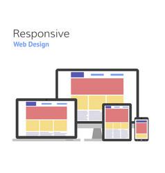 Responsive design web development computer screen vector
