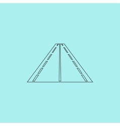 Road icon vector image