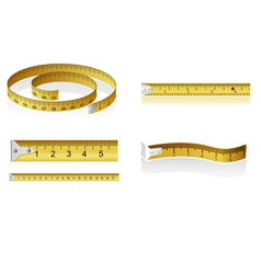 set of measuring tapes vector image vector image