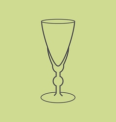Sherry vermouth glass vector image