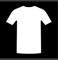 Shirt the white color icon vector