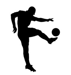 shoot of a soccer player vector image