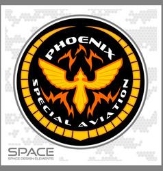 Space batlmilitary chevron vector