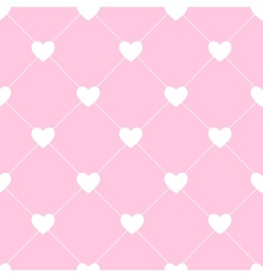 Valentines Day Seamless Hearts Pattern vector image vector image