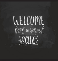 welcome back to school sale handwritten vector image