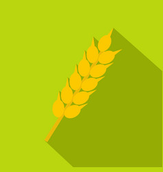 Wheat ear icon flat style vector