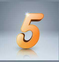 yellow five icon vector image vector image