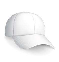 White baseball cap vector image