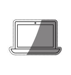 Pc laptop technology vector