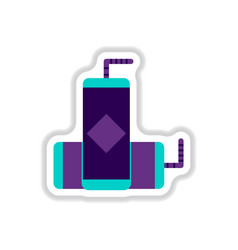 Drink icon in paper sticker vector
