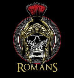 skull of roman warrior vector image
