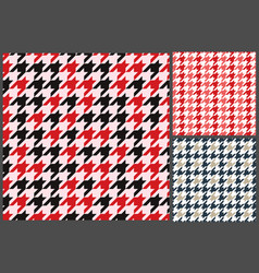 houndstooth patterns set for clothes vector image