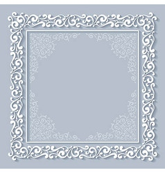 Chriasmas ornate frame vector image