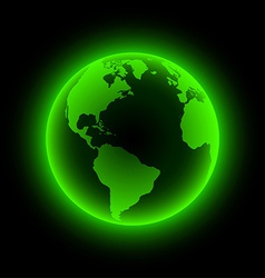 Neon earth vector