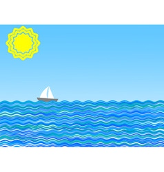 illustration of a sail on a sunny day vector
