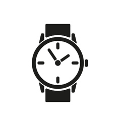 The watch icon clock and wristwatch timer time vector