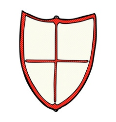Comic cartoon heraldic shield vector