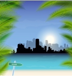 Miami skyline vector