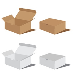 White and brown box packaging Packaging Design Box vector image