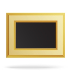 Golden frame for painting or picture isolated vector image