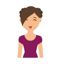 Woman cartoon icon person design graphic vector