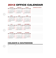 2013 clean office calendar vector