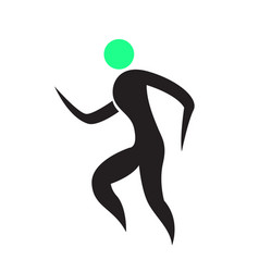 abstract fitness icon vector image vector image