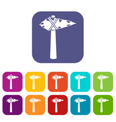 Ancient hammer icons set vector