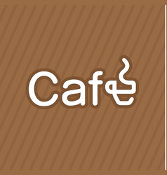 Business card coffee label vector