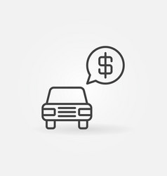 Car price concept icon vector
