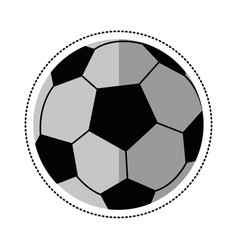 cartoon football ball sport play vector image
