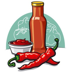 chilly ketchup vector image vector image