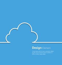 cloud design element vector image vector image