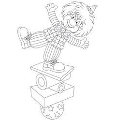 Clown equilibrist vector