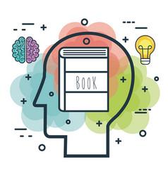 Creative profile and brain vector