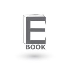 E-book icon logo vector