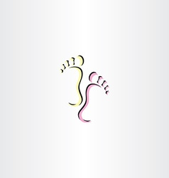 Footsteps foot icon logo vector