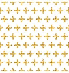 Golden Glitter Geometric Background vector image