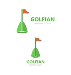 golf club logo teamplate vector image