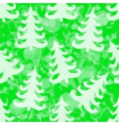 Green pattern with fir trees vector