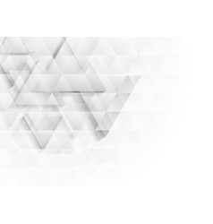 grey and white tech polygon triangles texture vector image
