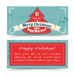 merry christmas festive horizontal banners vector image vector image