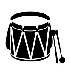 Parade drum icon image vector