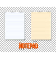 Realistic Notepad Set vector image