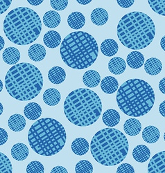 Seamless Pattern with Bubbles Background in Blue vector image