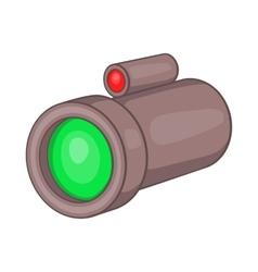 Sniper rifle telescope scope glass lens icon vector