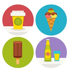sweets icons in flat design vector image vector image