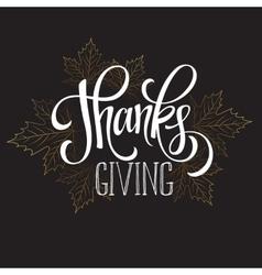 Thanksgiving - gold glittering lettering design vector